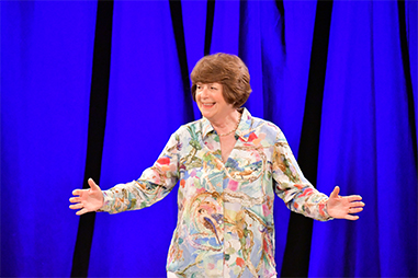 Pam Ayres on Stage